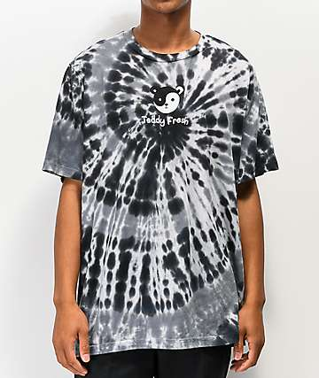 Teddy Fresh Yin Yang Ted Black Tie Dye T-Shirt