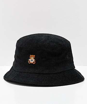 Teddy Fresh sombrero de cubo de pana negra