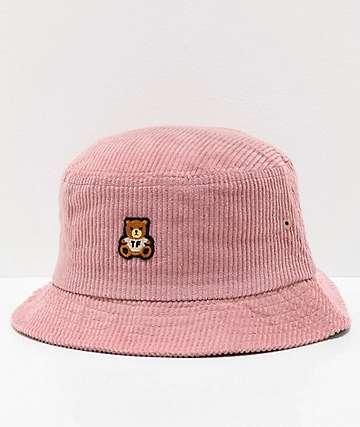 Teddy Fresh sombrero de cubo de pana rosa