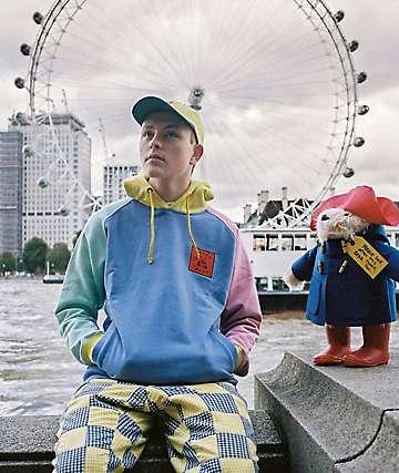 Teddy Fresh sudadera con capucha pastel multicolor