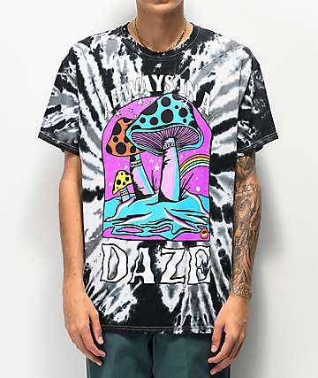 Teen Hearts In A Daze Black & White Tie Dye T-Shirt