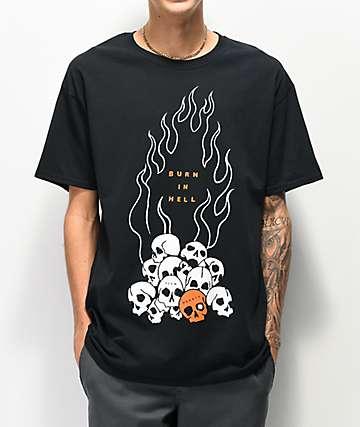 Teen Hearts Skull Pile camiseta negra