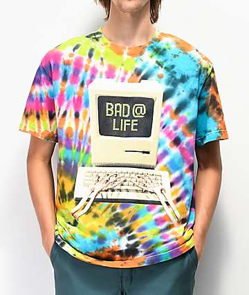 Teenage Bad @ Life Multicolor Tie Dye T-Shirt