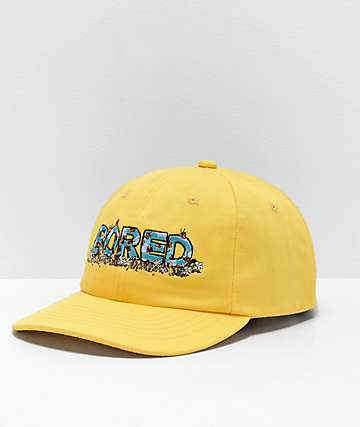 Teenage Bored Skies Yellow Strapback Hat