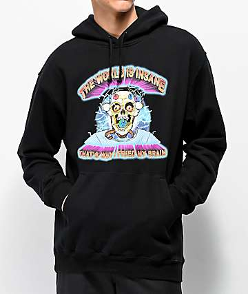 Teenage Fried The Brain Black Hoodie
