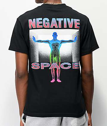 Teenage Negative Space Black T-Shirt