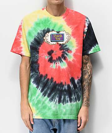 Thank You Buds Multi Tie Dye T-Shirt