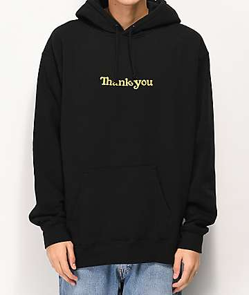 Thank You Center Black Hoodie