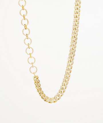 "The Gold Goddess Gold & Diamond 13"" Choker Necklace"