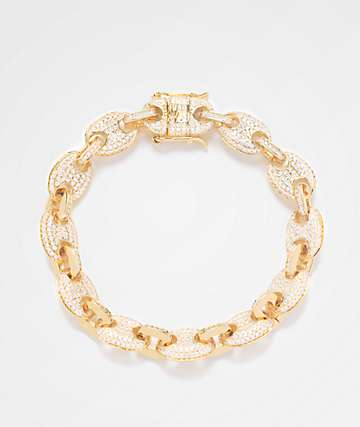 The Gold Gods Diamond Link Yellow Gold Bracelet