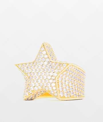 The Gold Gods Diamond Star anillo de oro