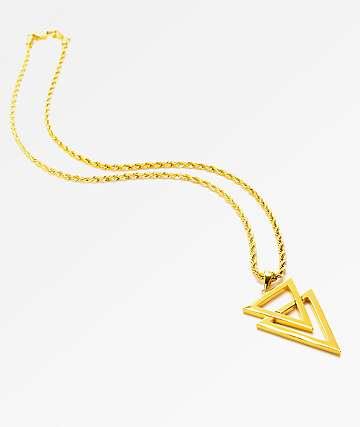"The Gold Gods Dual Arrow collar de cuerda de 22"""