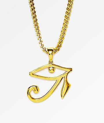 "The Gold Gods Horus Eye 28""  Necklace"