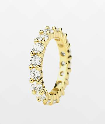 The Gold Gods Single Eternity Yellow Gold Ring