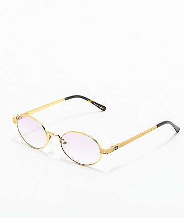 The Gold Gods The Ares Gold & Pink Gradient Sunglasses