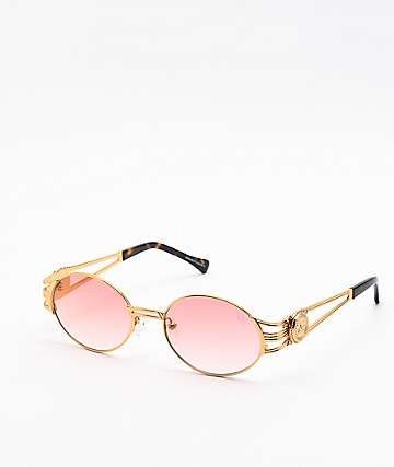 The Gold Gods The Ethos Red & Gold Sunglasses