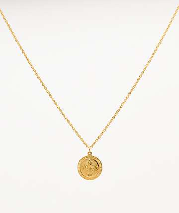 "The Gold Gods Virgin Mary 20"" Gold Chain Necklace"