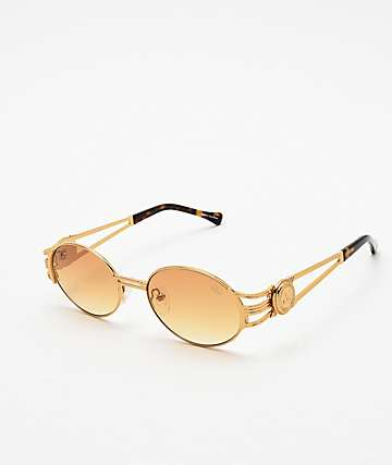The Gold Gods x Fabolous Orange Sunglasses