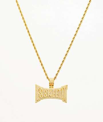 "The Gold Gods x Lil Pump Esskeetit collar de oro amarillo de 22"""