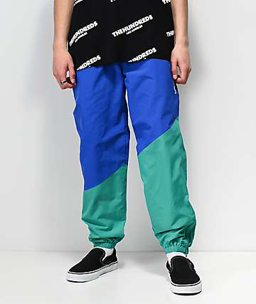 The Hundreds Angles pantalones de chándal en azul y verde