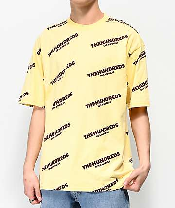 The Hundreds Card Yellow T-Shirt