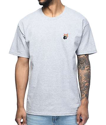 The Hundreds Crest Adam Athletic Heather Grey T-Shirt