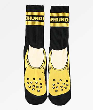 The Hundreds Footy Black Crew Socks
