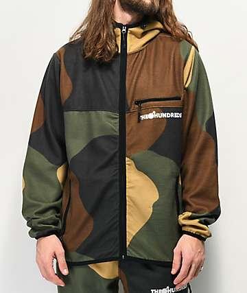 The Hundreds Hideaway Camouflage Zip Hoodie