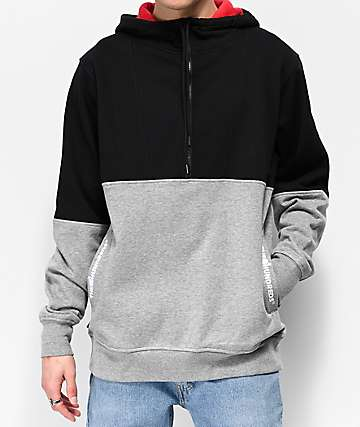 The Hundreds Lewis Black and Grey Hoodie