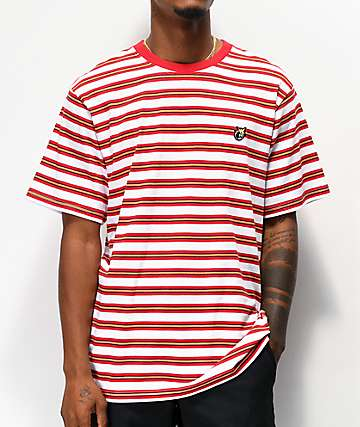 The Hundreds Page Red & White Stripe Knit T-Shirt