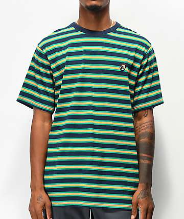 The Hundreds Page camiseta azul marino y verde de rayas
