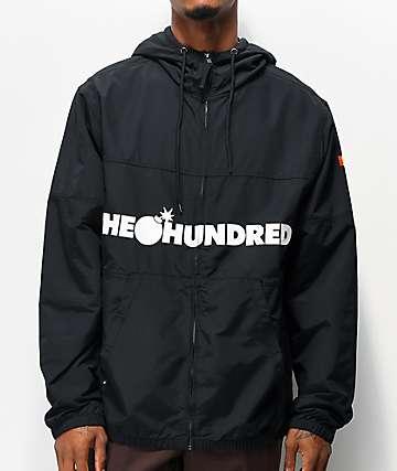The Hundreds Port Black Windbreaker Jacket