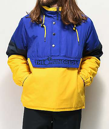 The Hundreds Reversion Blue & Yellow Anorak Puffer Jacket