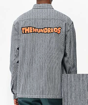 The Hundreds Roosevelt Blue & White Striped Jacket