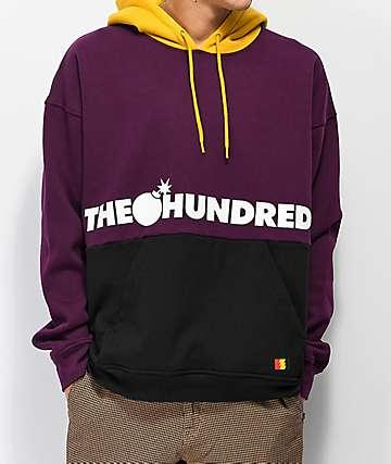 The Hundreds Sierra Purple, Gold & Black Hoodie