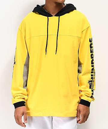 The Hundreds Slide Yellow Hooded Long Sleeve T-Shirt
