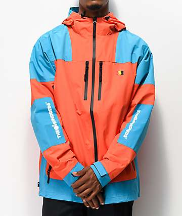 The Hundreds Weston Orange & Teal Windbreaker Jacket
