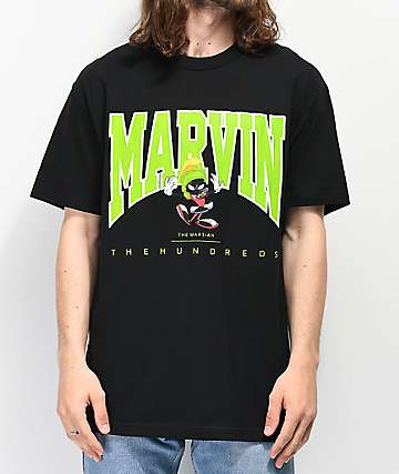 The Hundreds x Marvin The Martian Flag Black T-Shirt