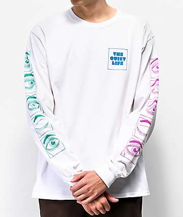 The Quiet Life Blink White Long Sleeve T-Shirt