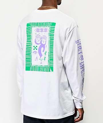 The Quiet Life Post camiseta de manga larga blanca, verde y morada