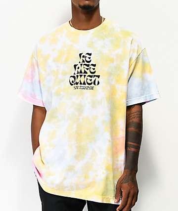 The Quiet Life Psych camiseta tie dye amarilla, rosa y azul