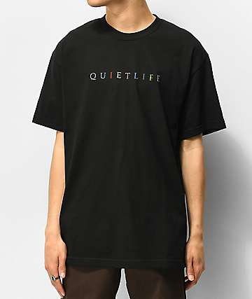 The Quiet Life Rainbow Black T-Shirt