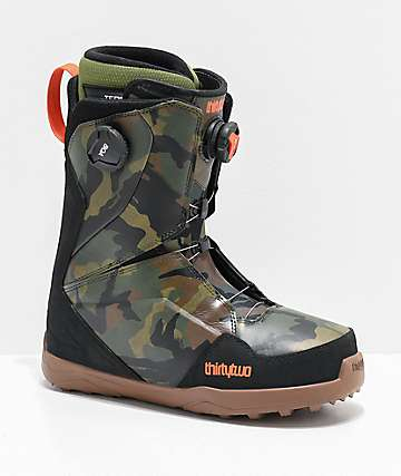 ThirtyTwo Lashed Double Boa Camo Snowboard Boots 2020