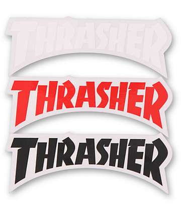 Thrasher Die Cut Logo Assorted Sticker