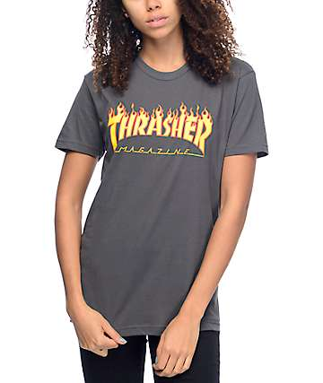 Thrasher Flame Logo Heavy Metal T-Shirt