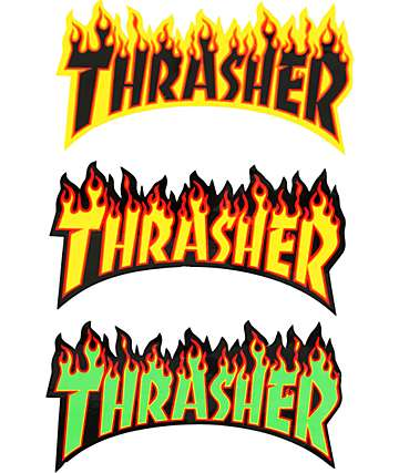 Thrasher Flame Logo Sticker
