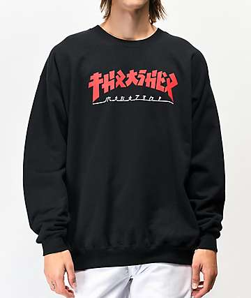 Thrasher Godzilla Black Crew Neck Sweatshirt