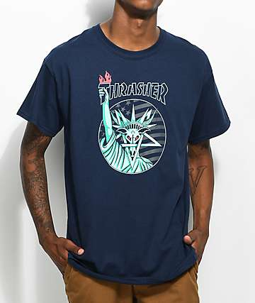 Thrasher Liberty Goat Navy T-Shirt