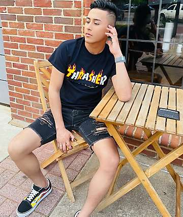 Thrasher Mag Flame Black T-Shirt
