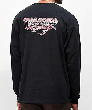 Thrasher Racing Black Long Sleeve T-Shirt